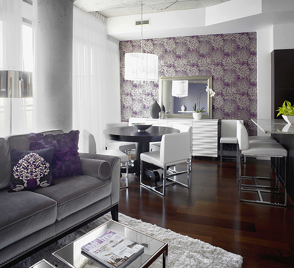 Purple and Gray Living Room 600 x 546